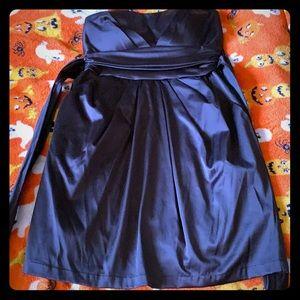Strap less homecoming dress